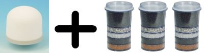 Ersatzfilter-Jahres-SET: Mikro Keramik plus 3x Mehrschichtfilter Kartusche